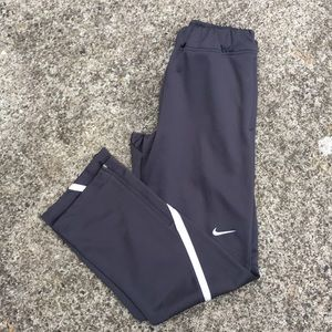 Nike Dri-Fit grey warm-up sweat pants.